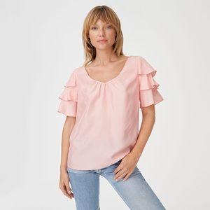 NWT Club Monaco Nevaeh Pink Top, Sz L